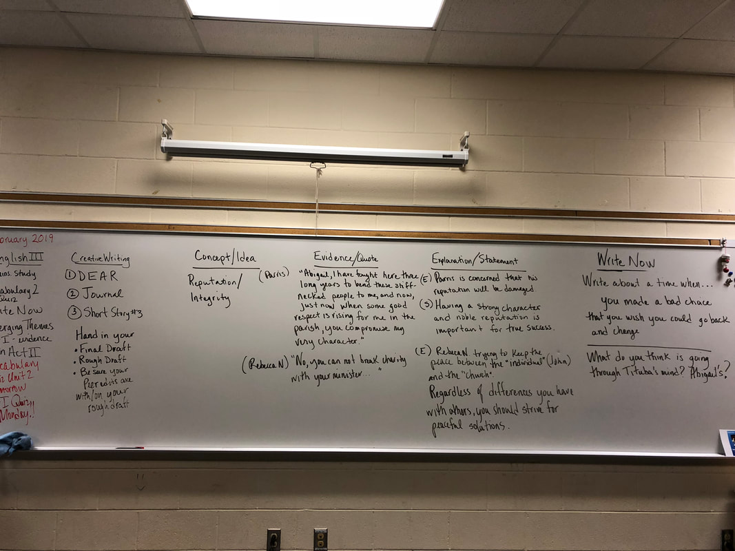 English III Honors - MS  MIANO'S CLASS PAGE